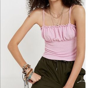 Urban Outfitters August Smocked Ruched Cami